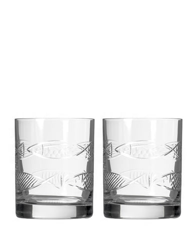 Rolf Glass Go Fish Double Old-Fashioned (Set of 2)