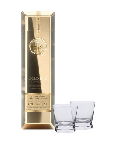 Gold Bar® Whiskey with Dartington Bar Excellence Glasses