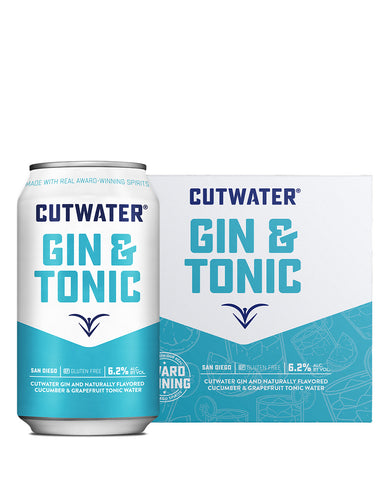 Cutwater Gin & Tonic Canned Cocktail and case