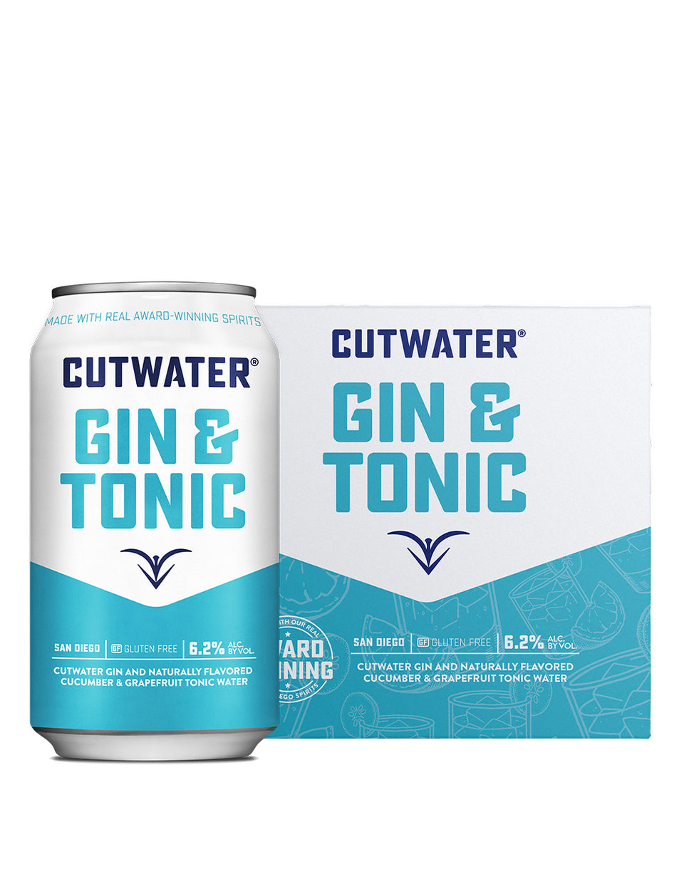 Load image into Gallery viewer, Cutwater Gin & Tonic Canned Cocktail and case