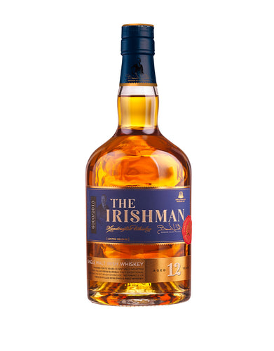 The Irishman 12 Years Old Single Malt Irish Whiskey bottle