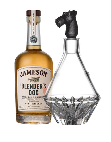 Jameson Blender's Dog with Waterford Irish Dogs Madra Decanter Terrier