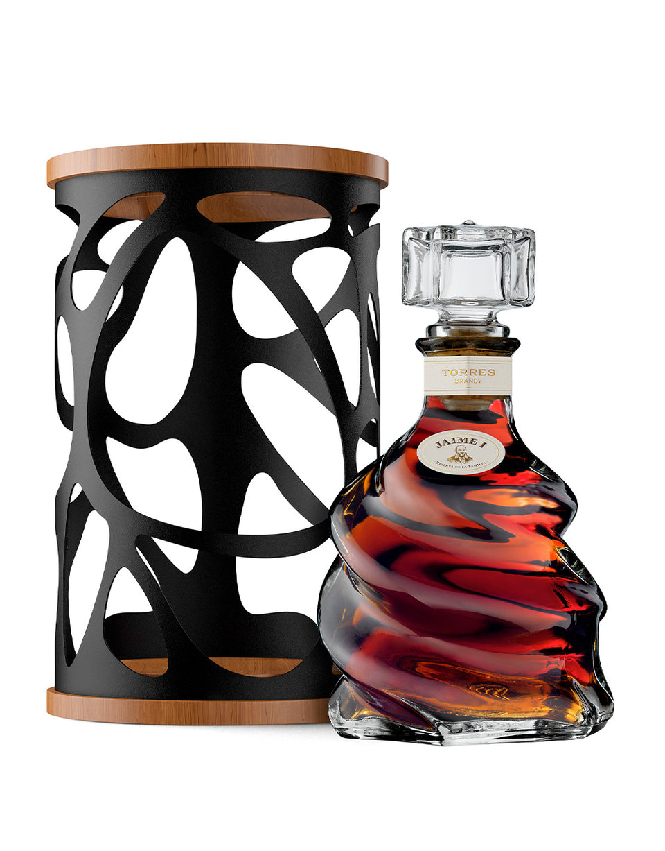 Load image into Gallery viewer, Torres Jaime I Brandy bottle and case