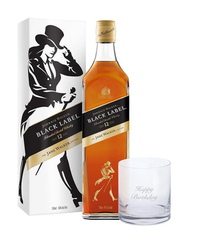 Johnnie Walker Black Label The Jane Walker Edition with Dartington