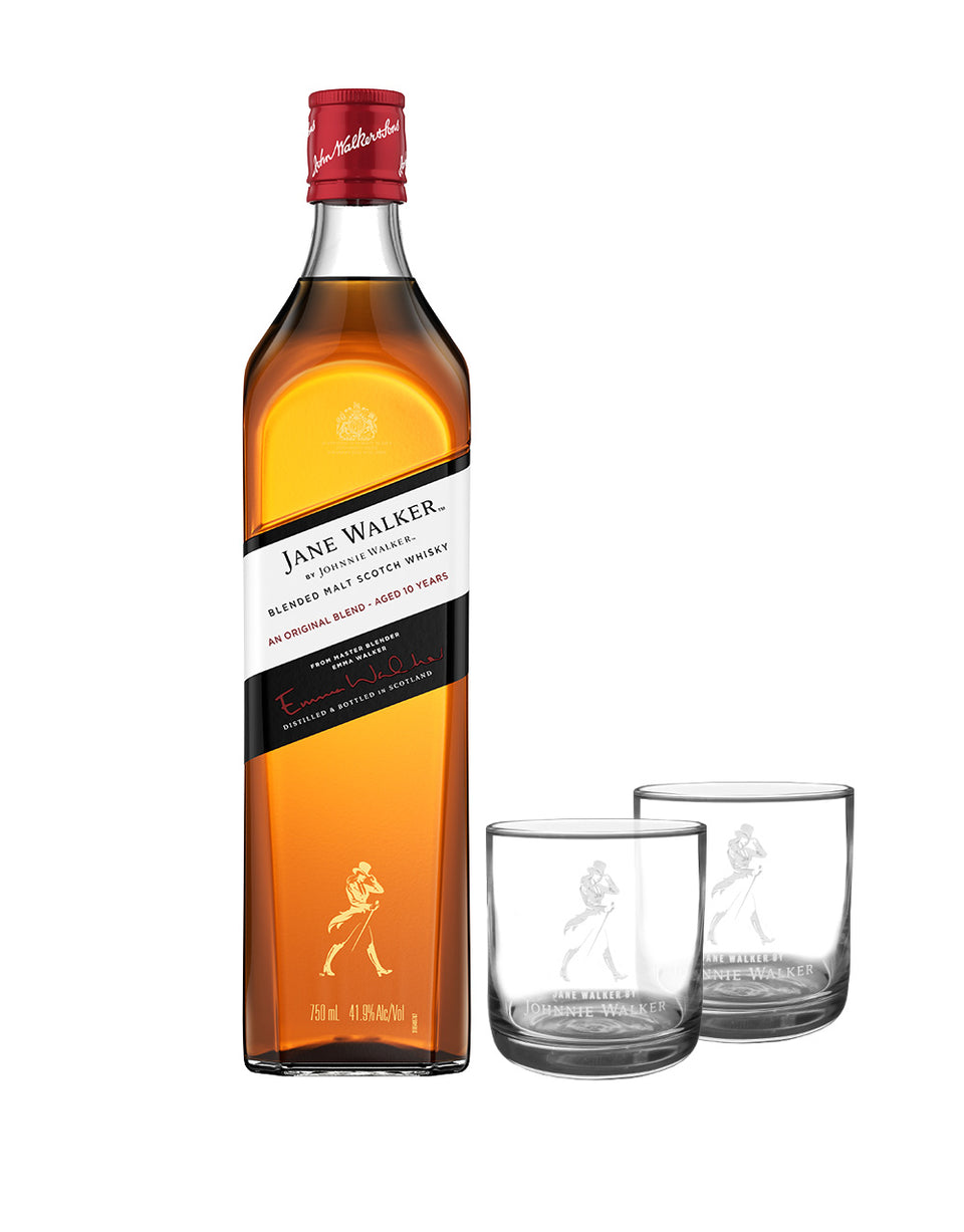 Load image into Gallery viewer, Jane Walker 2.0 by Johnnie Walker Scotch bottle and glasses