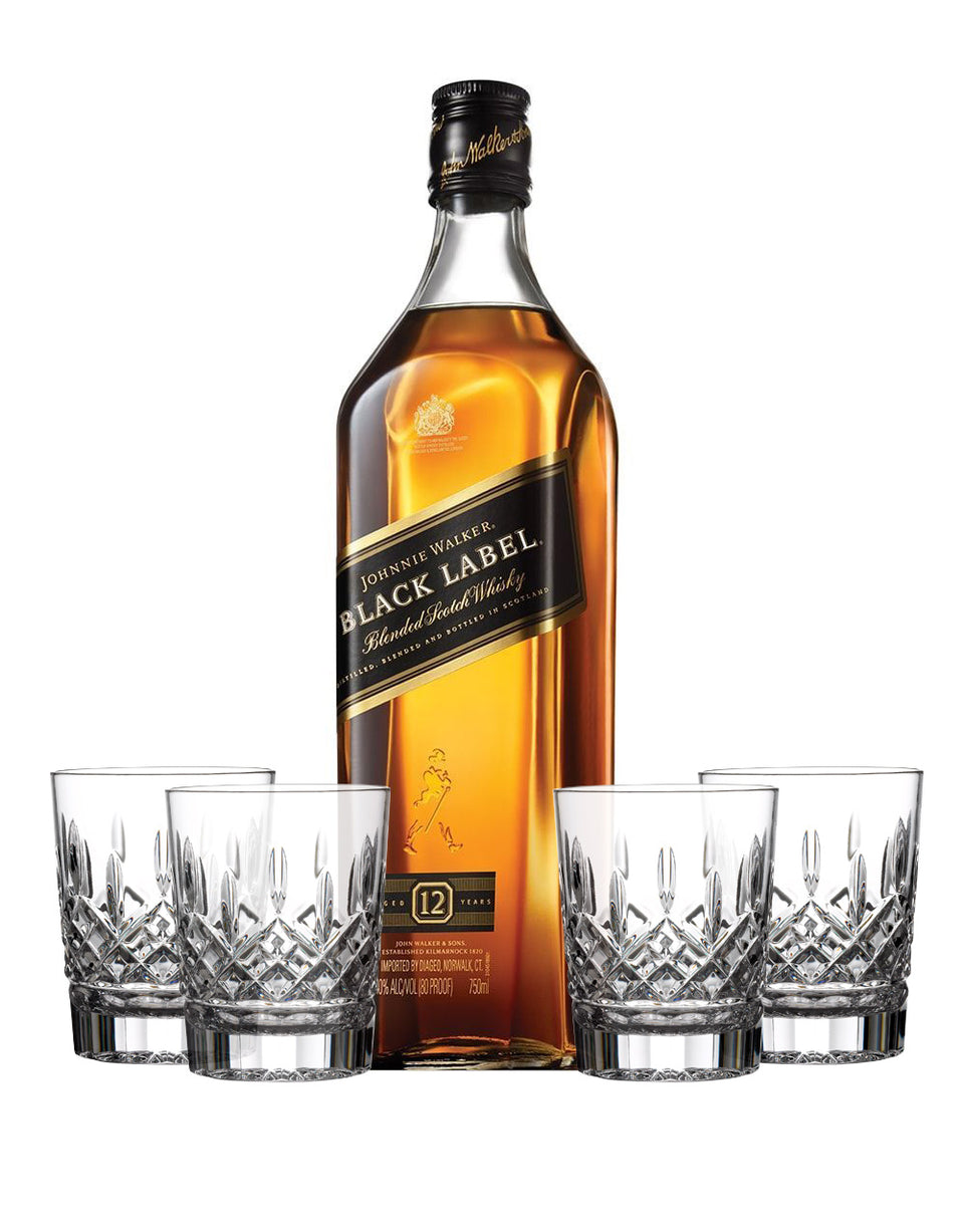 Load image into Gallery viewer, Johnnie Walker Black Label® with Waterford Markham Double Old Fashioned Glasses