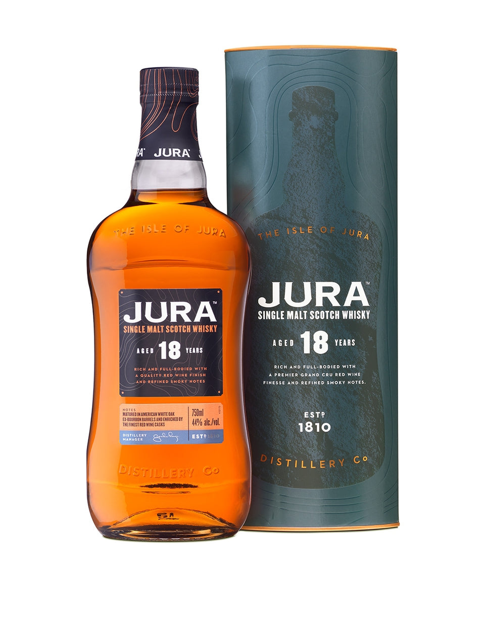 Load image into Gallery viewer, Jura 18-Year-Old Single Malt Scotch Whisky bottle and bottle