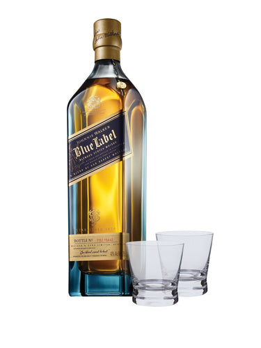 Johnnie Walker Blue Label® with Two Scotch Glasses