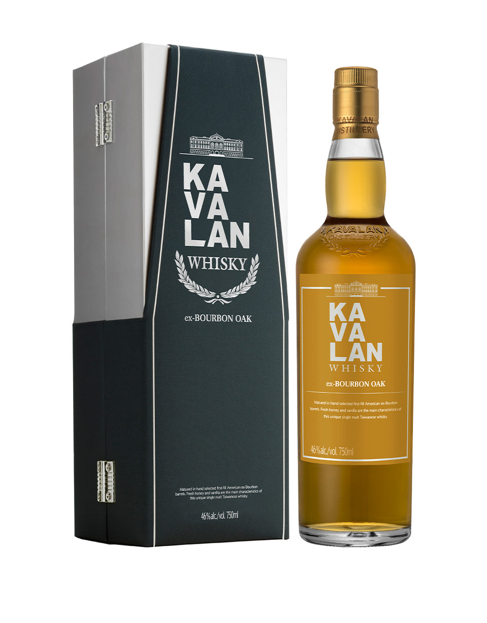 Load image into Gallery viewer, Kavalan Ex-Bourbon Oak Single Malt Whisky bottle and box