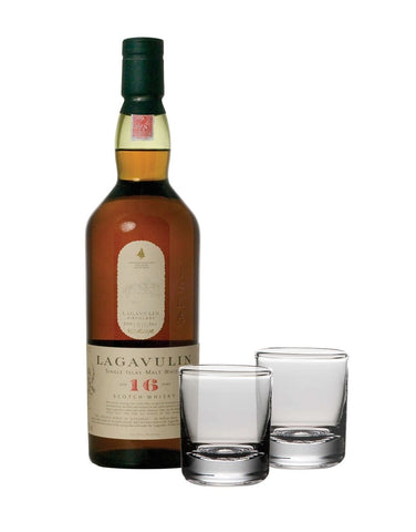 Lagavulin 16-Year-Old with Simon Pearce Ascutney Double Old-Fashioned Set