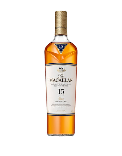 The Macallan Double Cask 15 Years Old Single Malt Scotch Whisky bottle
