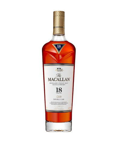 The Macallan Double Cask 18 Years Old Single Malt Scotch Whisky bottle