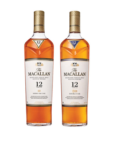 The Macallan 12 Years Old Single Malt Scotch Whisky Collection bottles