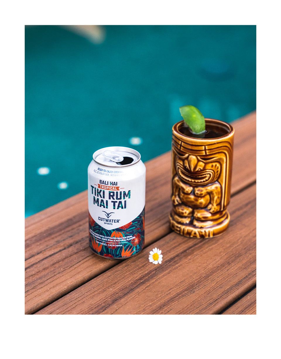 Load image into Gallery viewer, Cutwater Tiki Rum Mai Tai Canned Cocktail on counter