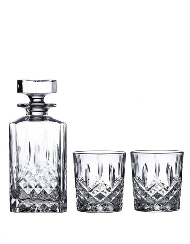 Waterford Markham Square Decanter 30 Oz & Dof Set