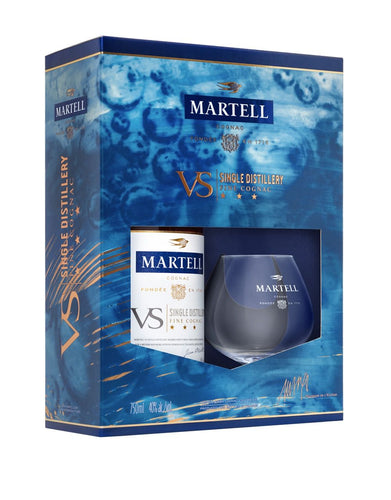 Martell V.S. Gift Set with 2 Glasses