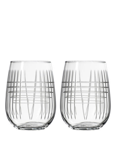 Rolf Glass Matchstick Stemless Wine (Set of 2)