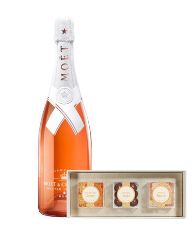Moët & Chandon Nectar Impérial Rosé by Virgil Abloh with Sweet & Sparkling 3pc Candy Bento Box