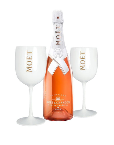 Moët & Chandon Nectar Impérial Rosé by Virgil Abloh with 2 Moët Goblets