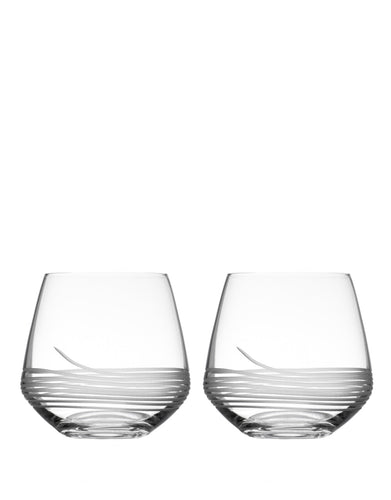 Rolf Glass Mid-Century Modern Double Old-Fashioned (Set of 2)