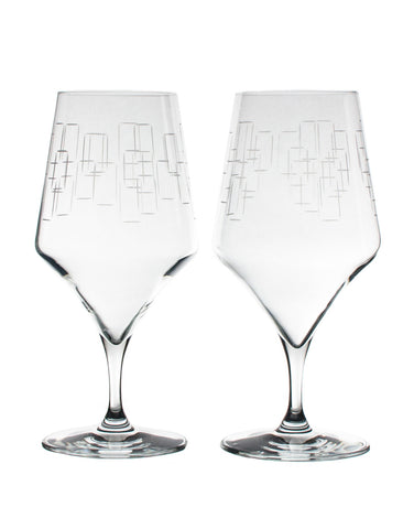Rolf Glass Mid-Century Modern Cocktail (Set of 2)