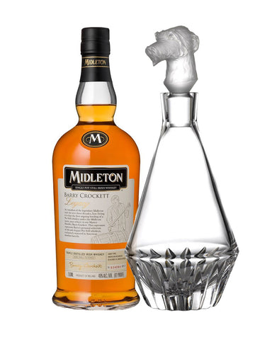 Midleton Barry Crocket Legacy with Waterford Irish Dogs Madra Decanter Wolfhound