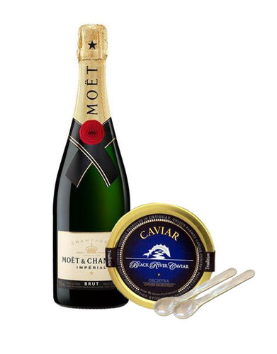 Moët & Chandon Impérial Brut with Black River Oscietra Tradition Caviar