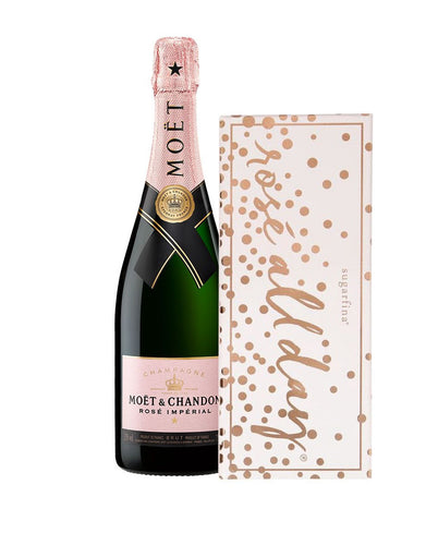 Moët & Chandon Rosé Impérial with Sugarfina® Rosé All Day 3pc Candy Bento Box