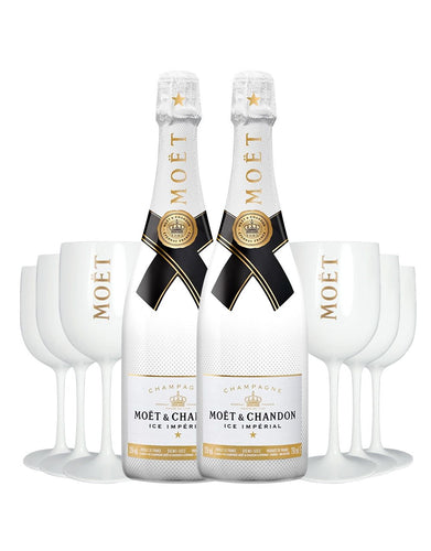 Moët Ice Impérial (2 Bottles) With 6 Moët Goblets