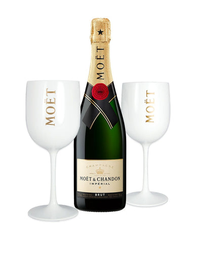 Moët & Chandon Impérial Brut with 2 Moët Goblets
