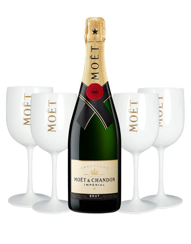 Moët & Chandon Impérial Brut with 4 Moët Goblets