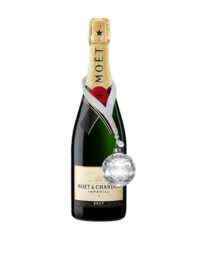 Moët & Chandon Impérial Brut with Waterford Times Square Ball Ornament