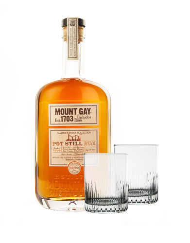 Mount Gay Master Blender's 2nd Edition Collection: Pure Pot Still 2009 with Rolf Glass Bella Glasses
