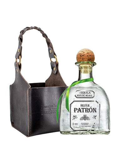 Patrón Silver with Billykirk Square Leather Bottle Holder
