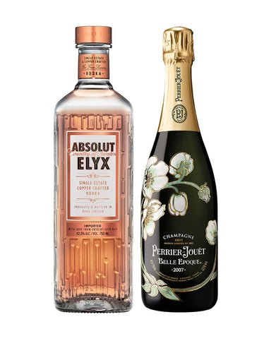 Perfect Toast Set: Absolut Elyx Vodka + Perrier-Jouët Belle Epoque