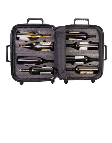 Load image into Gallery viewer, VinGardeValise Petite 03 Wine Suitcase (Black)