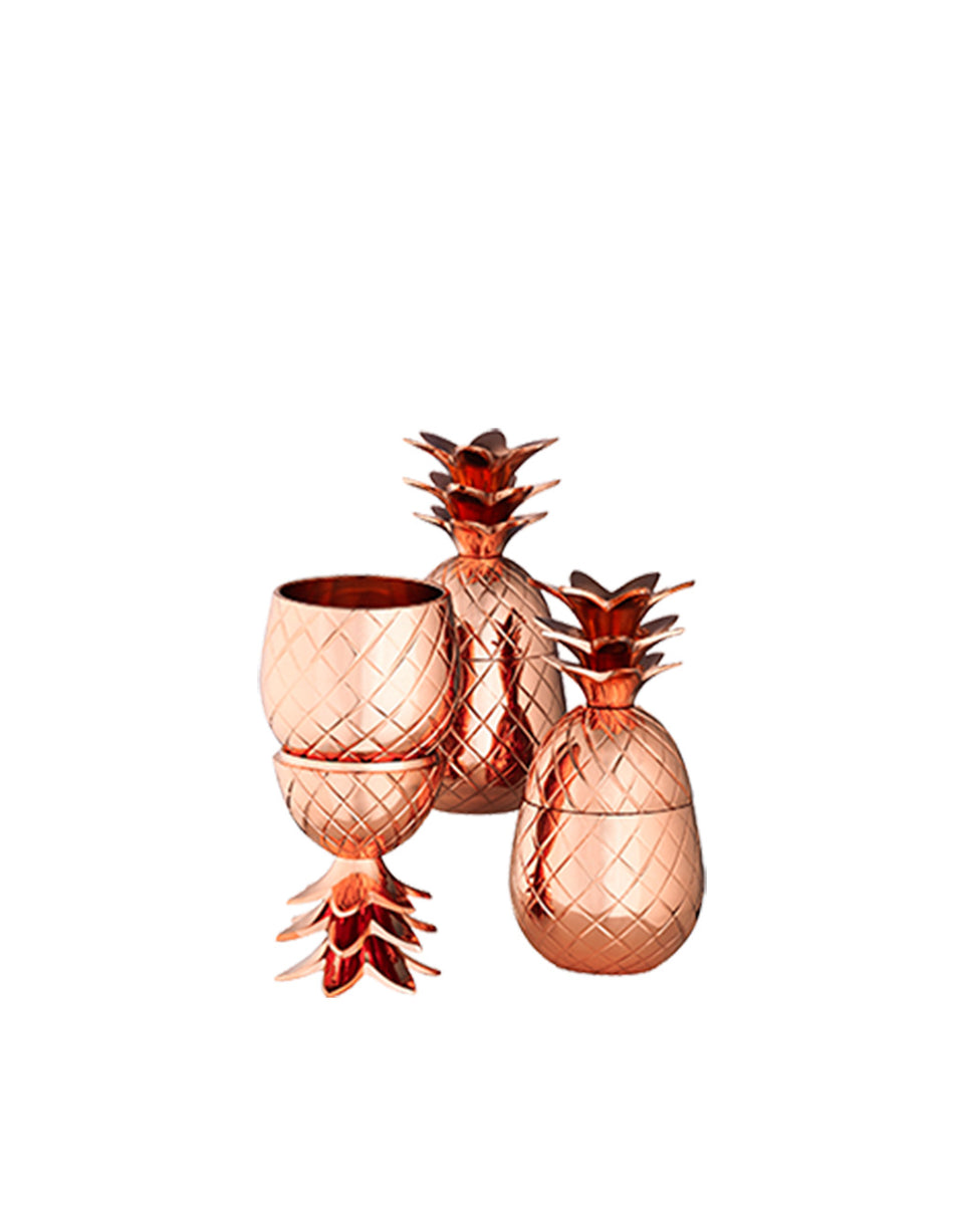 Load image into Gallery viewer, Elyx Mini Copper Pineapple Gift Set (Set of 3)