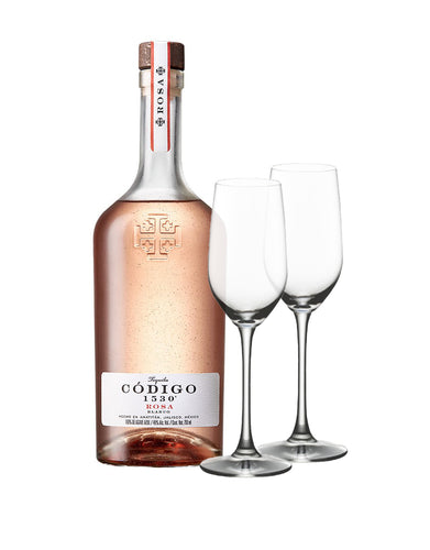 Código 1530 Rosa with Riedel Ouverture Tequila Glasses