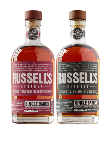 Russell's Reserve Single Barrel Bourbon & Russell's Reserve Rye