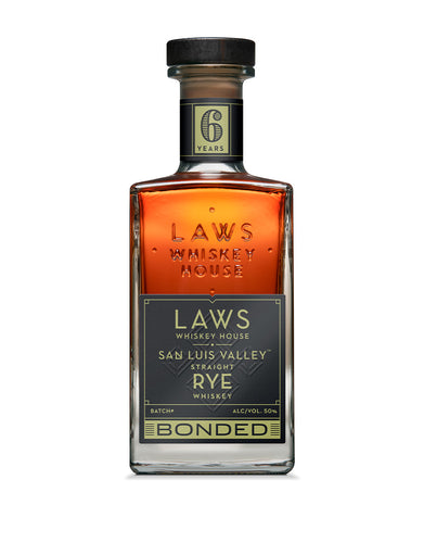 Laws San Luis Valley Straight Rye Bottled in Bond 6 Years