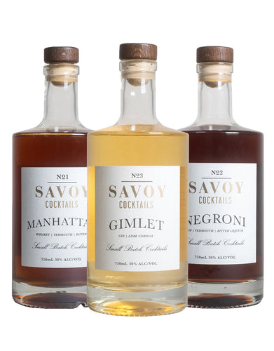 Savoy Cocktails (3 Bottles)