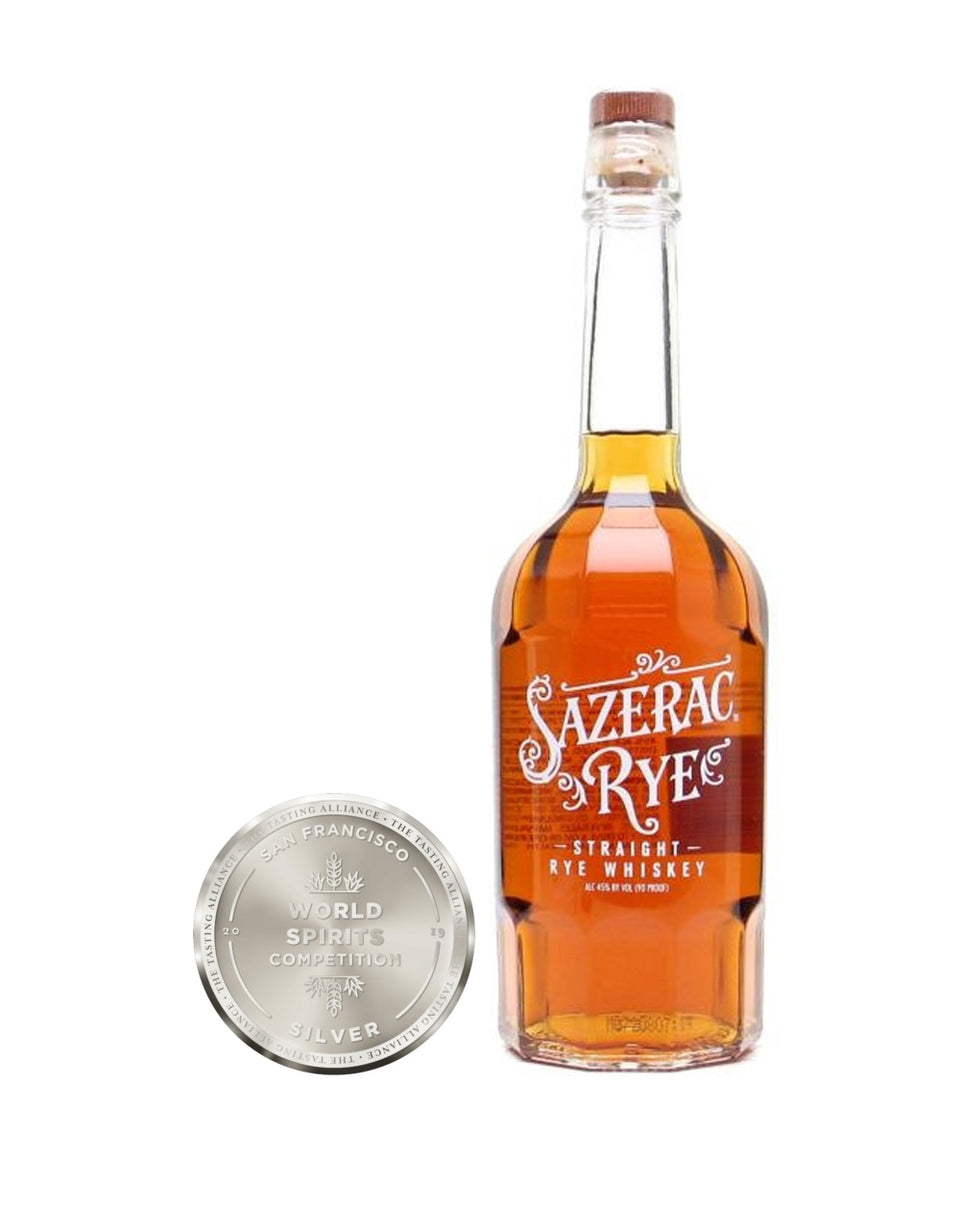 Load image into Gallery viewer, Sazerac Rye Straight Rye Whiskey bottle and awards