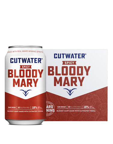 Load image into Gallery viewer, Cutwater Spicy Bloody Mary Canned Cocktail with case