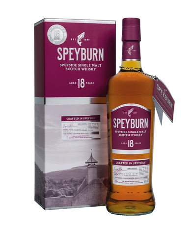Speyburn 18 Years Old Single Malt Scotch Whisky bottle