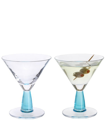 Load image into Gallery viewer, Dartington Gin Connoisseur Martini Blue Pair (set of 2)