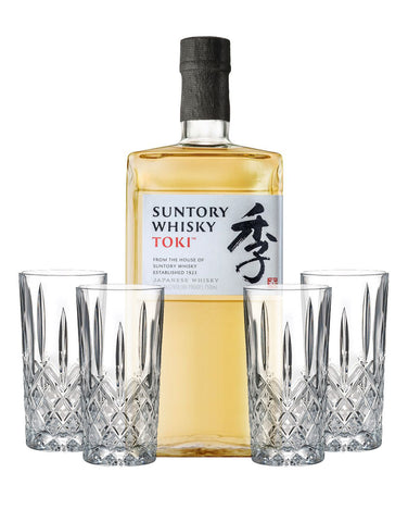 Suntory Whisky Toki Japanese Whisky with Waterford Markham Hiball Set