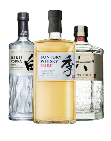 Suntory Whisky Toki with Haku Vodka and Roku Gin