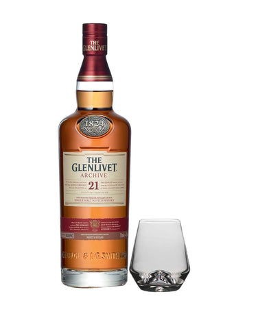 The Glenlivet 21 Year Old with Simon Pearce Bristol Tumbler