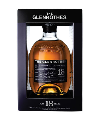 The Glenrothes 18 Years Old Single Malt Scotch Whisky bottle in box