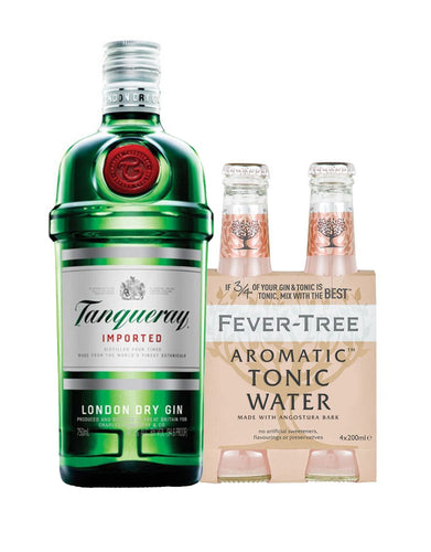 Tanqueray London Dry with Fever-Tree Aromatic Tonic Water